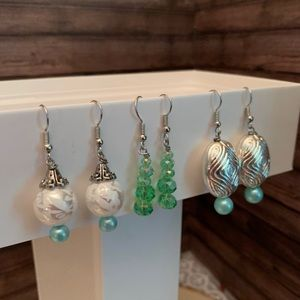 Three pairs of super cute handmade earrings